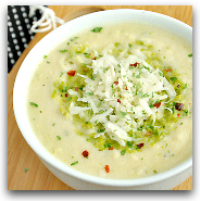 Cauliflower Soup with Pesto