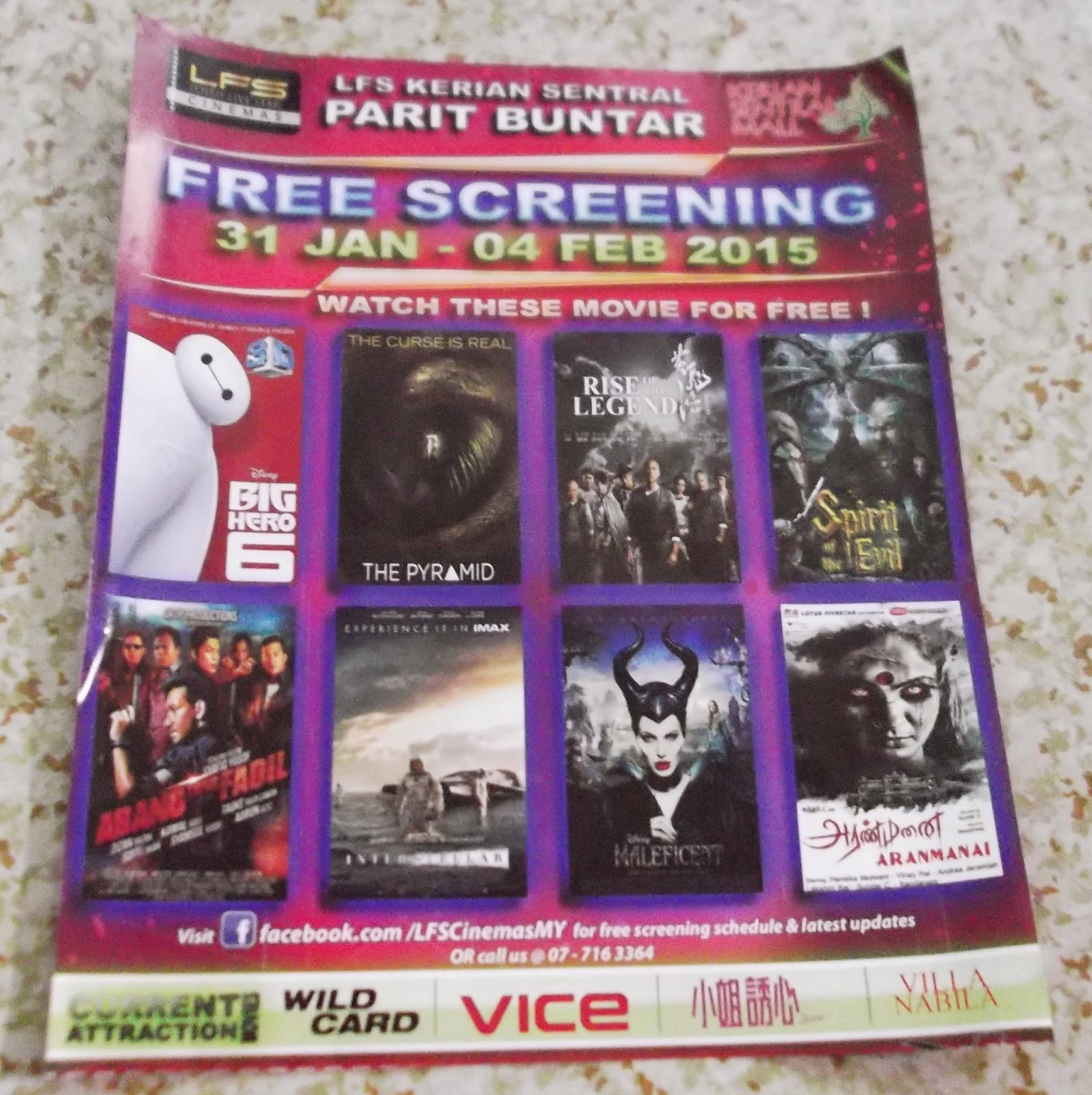 Movie for free at Kerian Sentral Mall