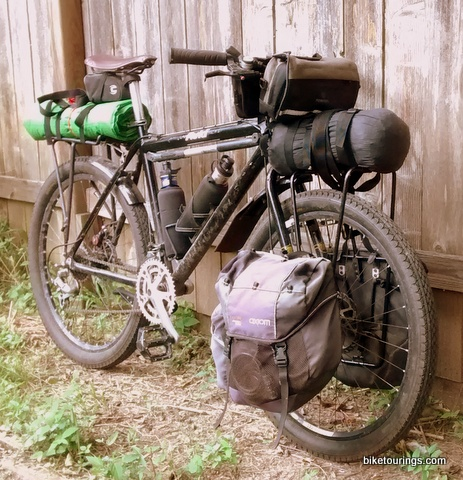 Picture of Minoura Front Pannier Rack on Mountain Bike