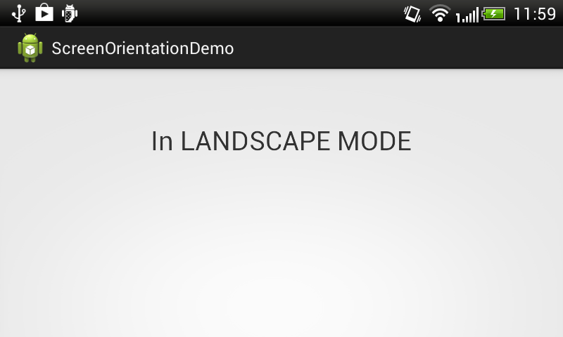 Android LandScape Mode