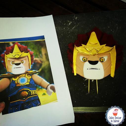 Lego Chima Laval Fondant CakeTopper
