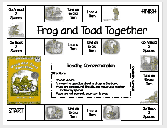 Hand Me Down Mom Genes Spring Book 3 Frog and Toad – Frog and Toad Together Worksheets
