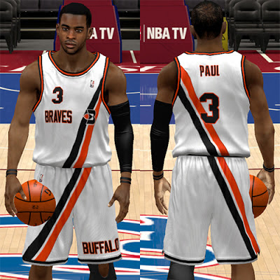 NBA 2K13 Buffalo Braves Home White Jersey Patch