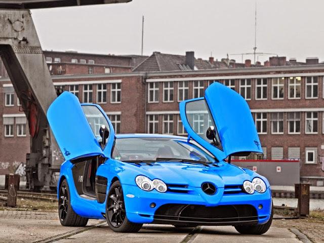 mercedes slr blue