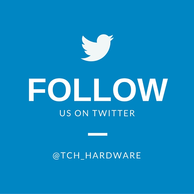 Follow TCH Hardware on twitter!