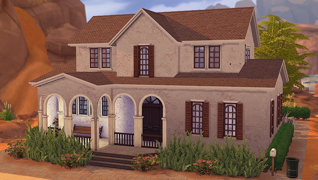 My sims 4 blog encarna 4br 3ba spanish revival legacy for Legacy house