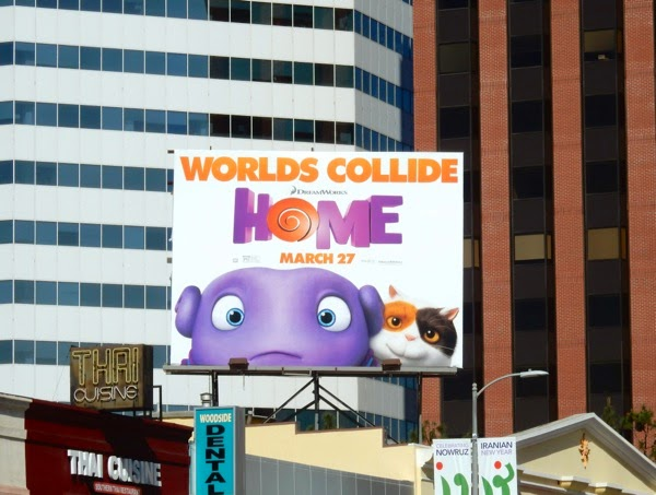 Home animated film billboard