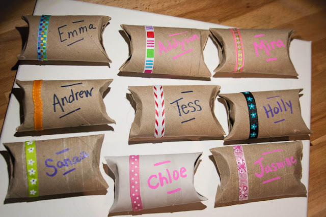 party favor boxes from toilet paper tubes