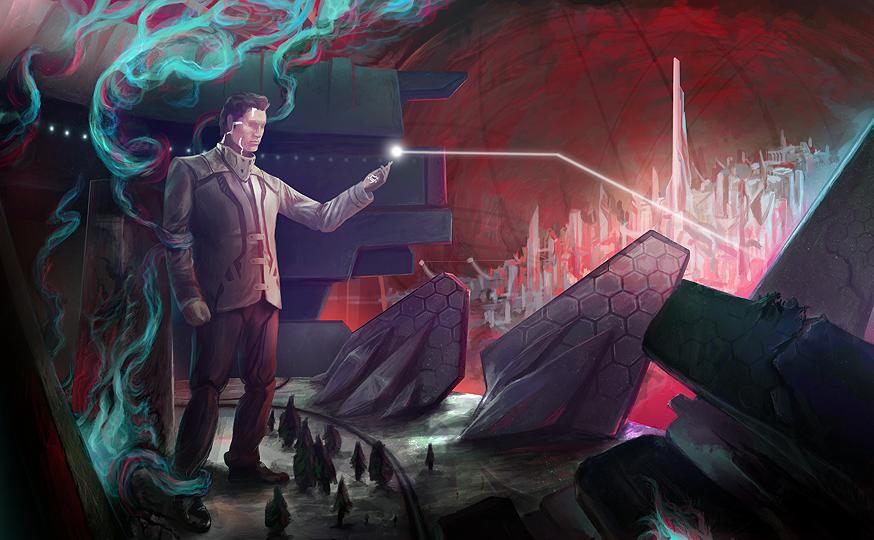 Underground City Illustration WIP - Please Critique