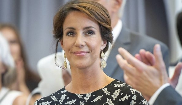 Princess Marie of Denmark attends the opening ceremony of the Copenhagen Cooking Festival at Restaurant Toldboden in Copenhagen