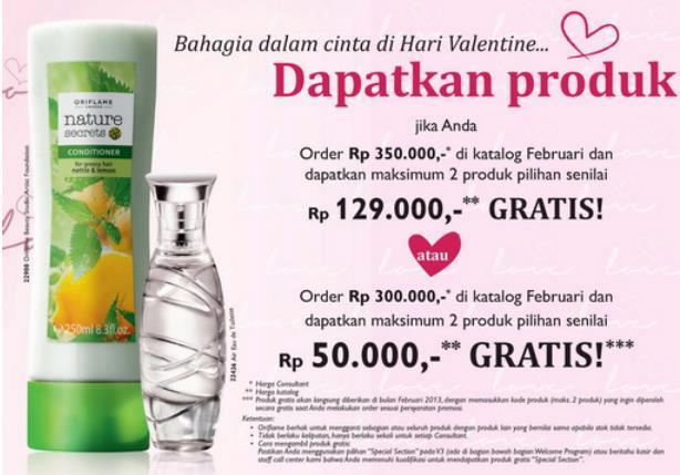 Promo Belanja Oriflame Febuari 2013 - Hadiah Valentine