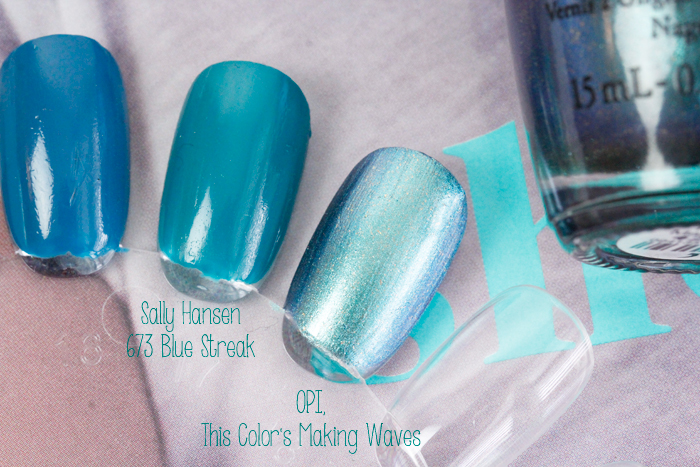 NOTW: OPI, This Color Makes Waves & Sally Hansen, 673 Blue Streak