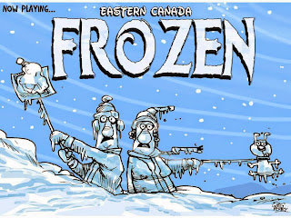 Eastern Canada Frozen Editorial Cartoon