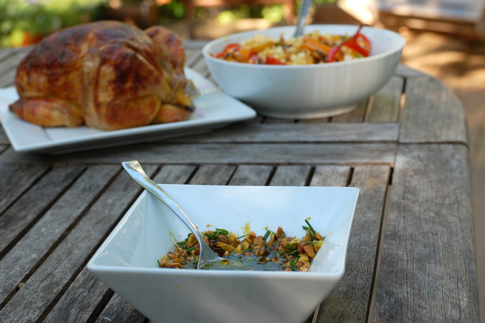 KELSIE'S KITCHEN: Roast Chicken with Pistachio Salsa, Peppers and Corn