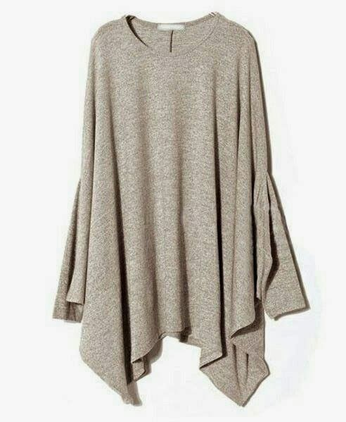 Draped Front Flounced Sleeve Sweater for Ladies