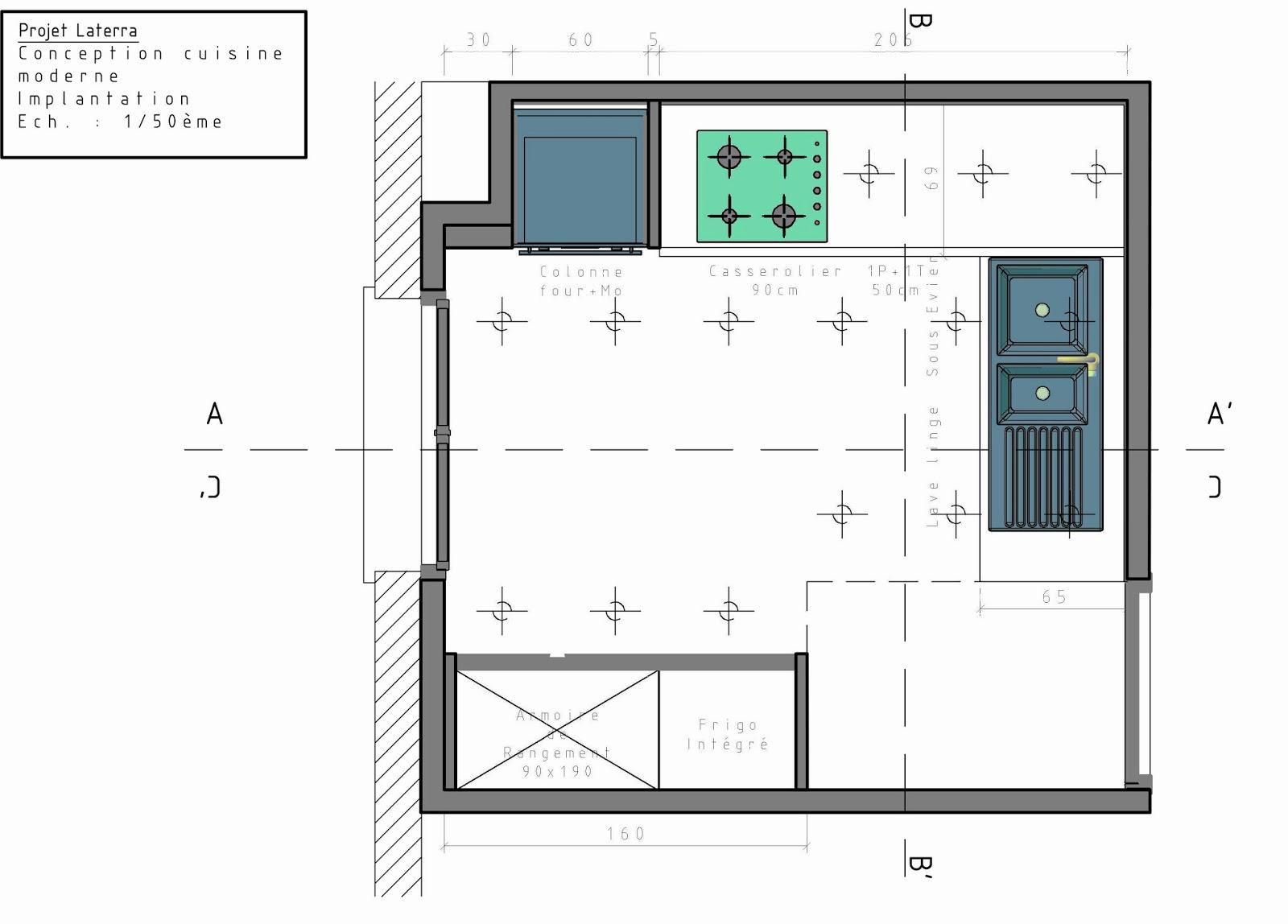 Etude et conception 3d cuisine for Cuisine 3d dwg