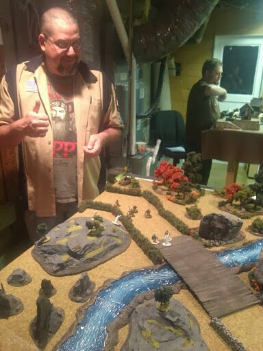 Mark's Dwarves advance toward my Eidolons & Knights Etheric