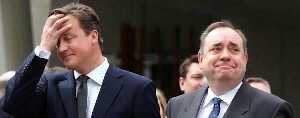 David Cameron & Alex Salmond.