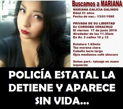 POLICÍA ESTATAL LA DETIENE Y APARECE SIN VIDA…