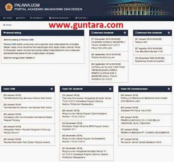Palawa UGM (dahulu Portal Akademik UGM) www.guntara.com