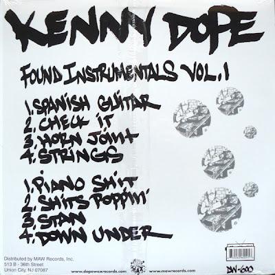 """Kenny Dope – Found Instrumentals Volume 1 – 12"""" – 2001"""