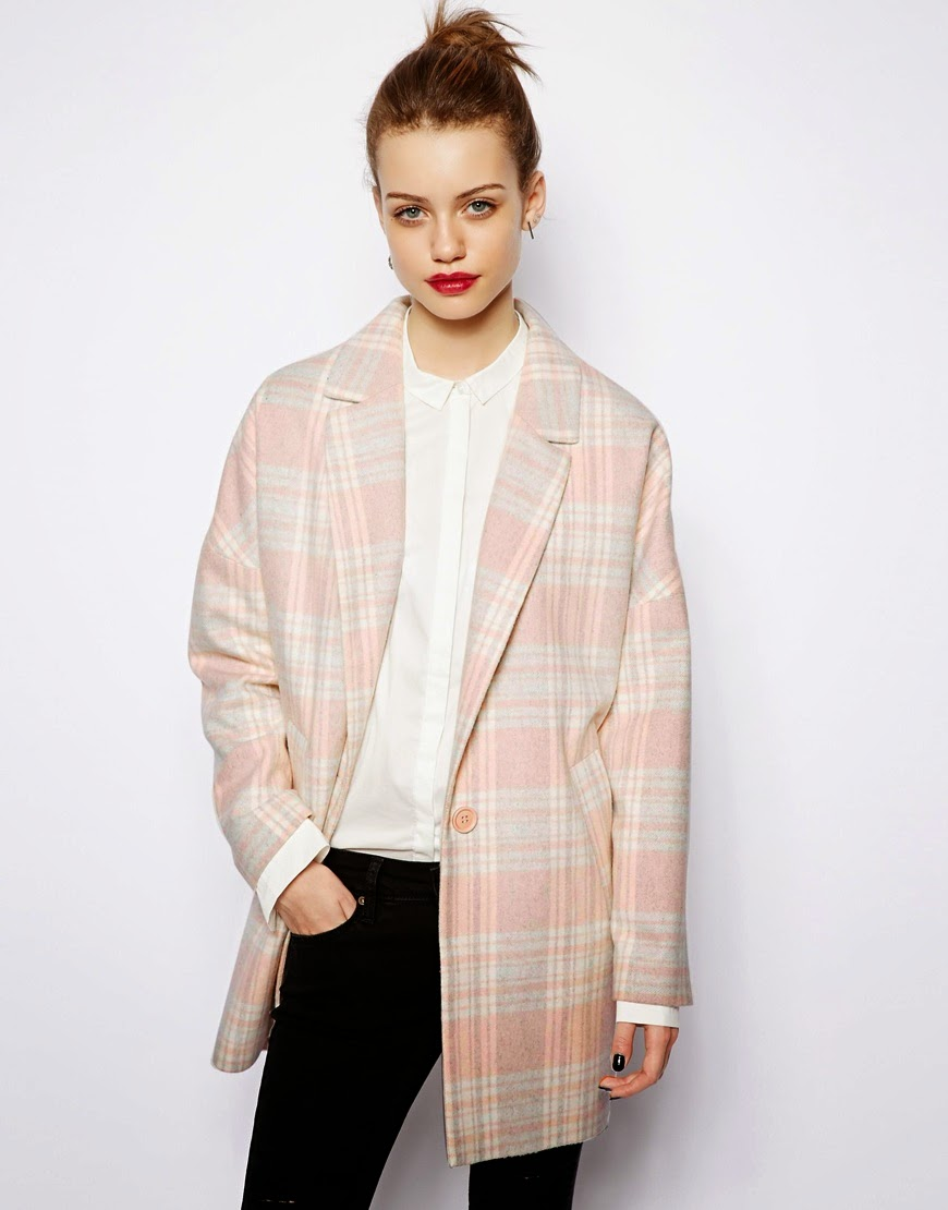 new look pink coat