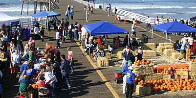 Pismo Beach Pumpkins on the Pier