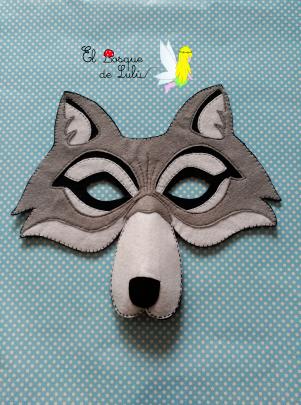 máscara-lobo-fieltro-carnaval-disfraz-antifaz