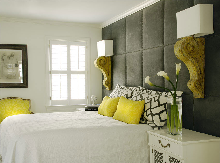 yellow and gray accent bedroom The Colorful Life with Studio of Decorative Arts: More Eye Candy in the Gray Color Palette
