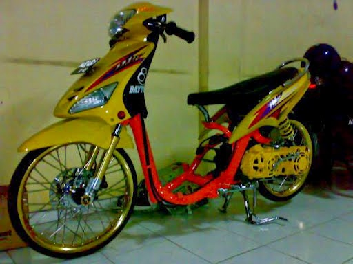 modifikasi motor mio drag