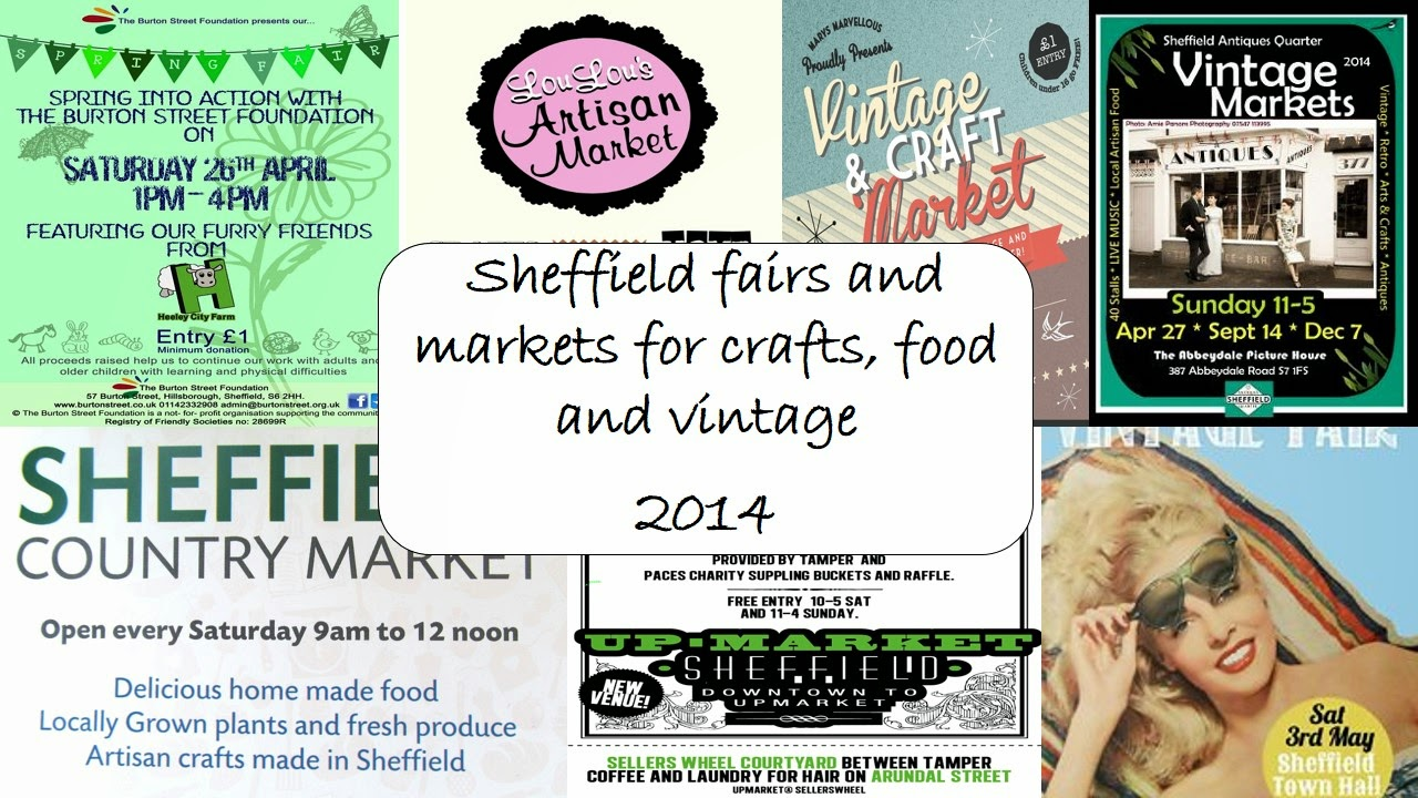 Craft and vintage fairs and markets in Sheffield 2014
