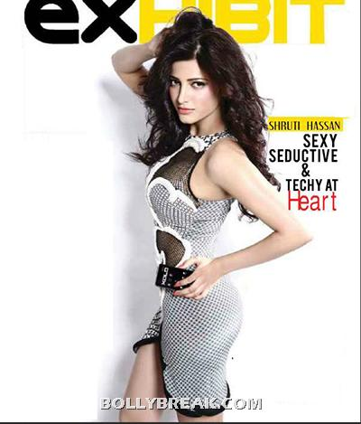 Shruthi Hassan EXHIBIT Cover Page - Shruthi Hassan EXHIBIT Magazine Scans - July 2012