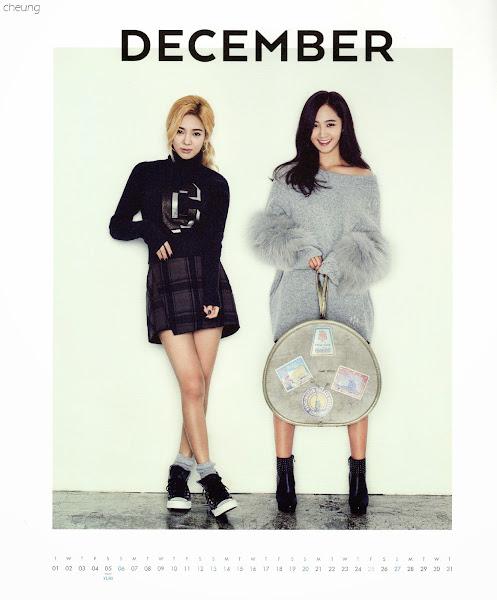snsd hyoyeon yuri calendar 2015