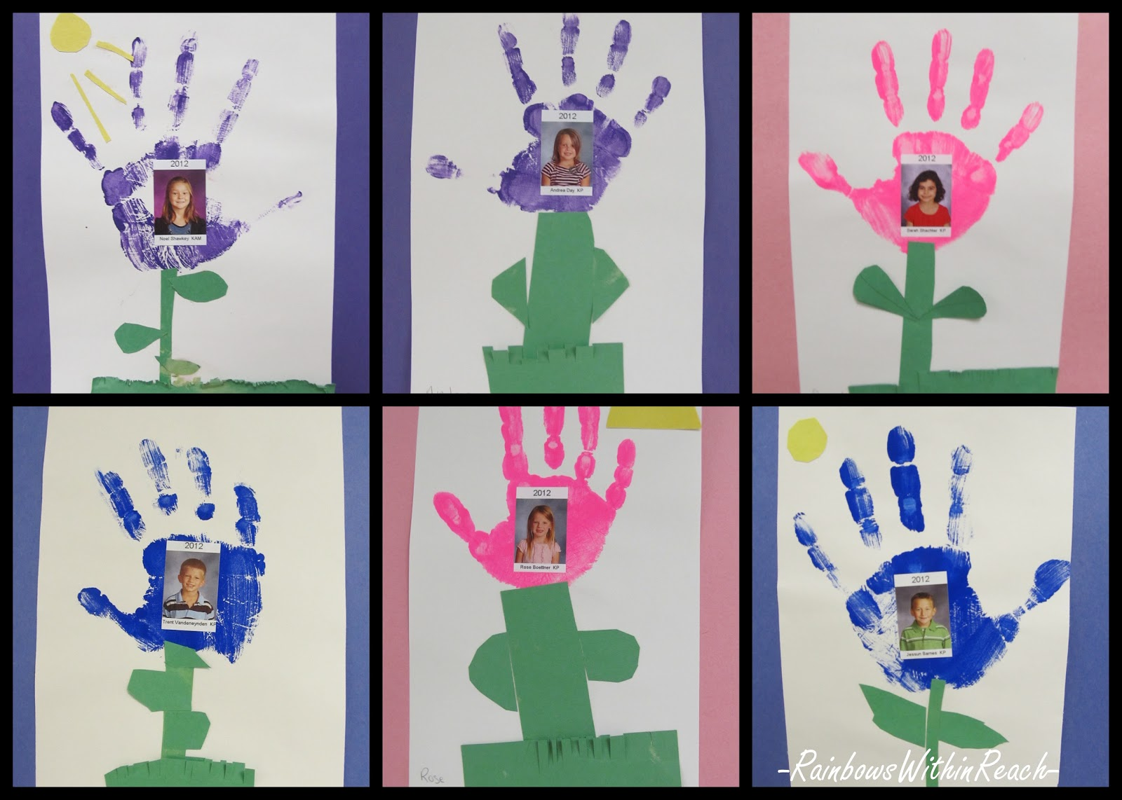 Pre k arts and crafts - Photo Of Handprint Paintings For Kindergarten Mother S Day Art Project Preschool Craft For
