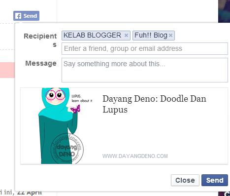 Tutorial : Letak Button Send Facebook Pada Setiap Entri