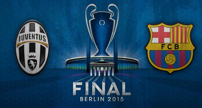Poster de la Final de la UEFA Champions League 2015 (Final Berlin 2015) entre la Juventus de Italia y le Barcelona de España | Ximinia