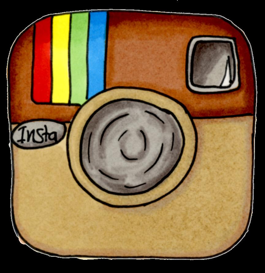 tecknad instagran logga