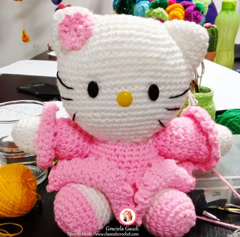patrones paso a paso, kitty crochet