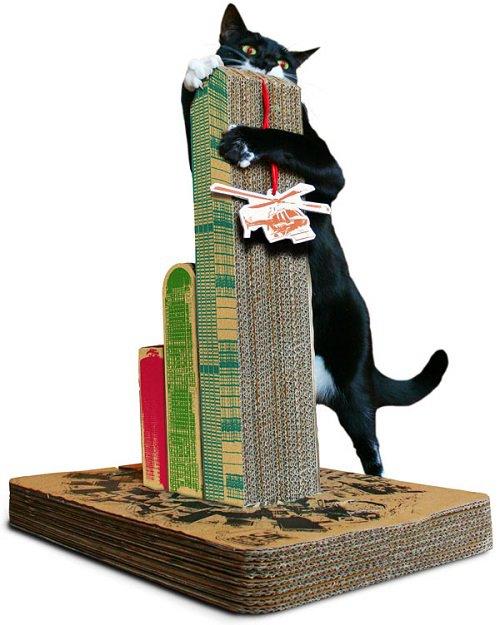 Cara de bicho rs arranhador para gatos de papel o for Oq e mobilia