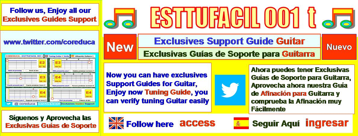 ESTTUFACIL 001 t   - Now you can have exclusives Guitar Guides support, follow us and Enjoy latest