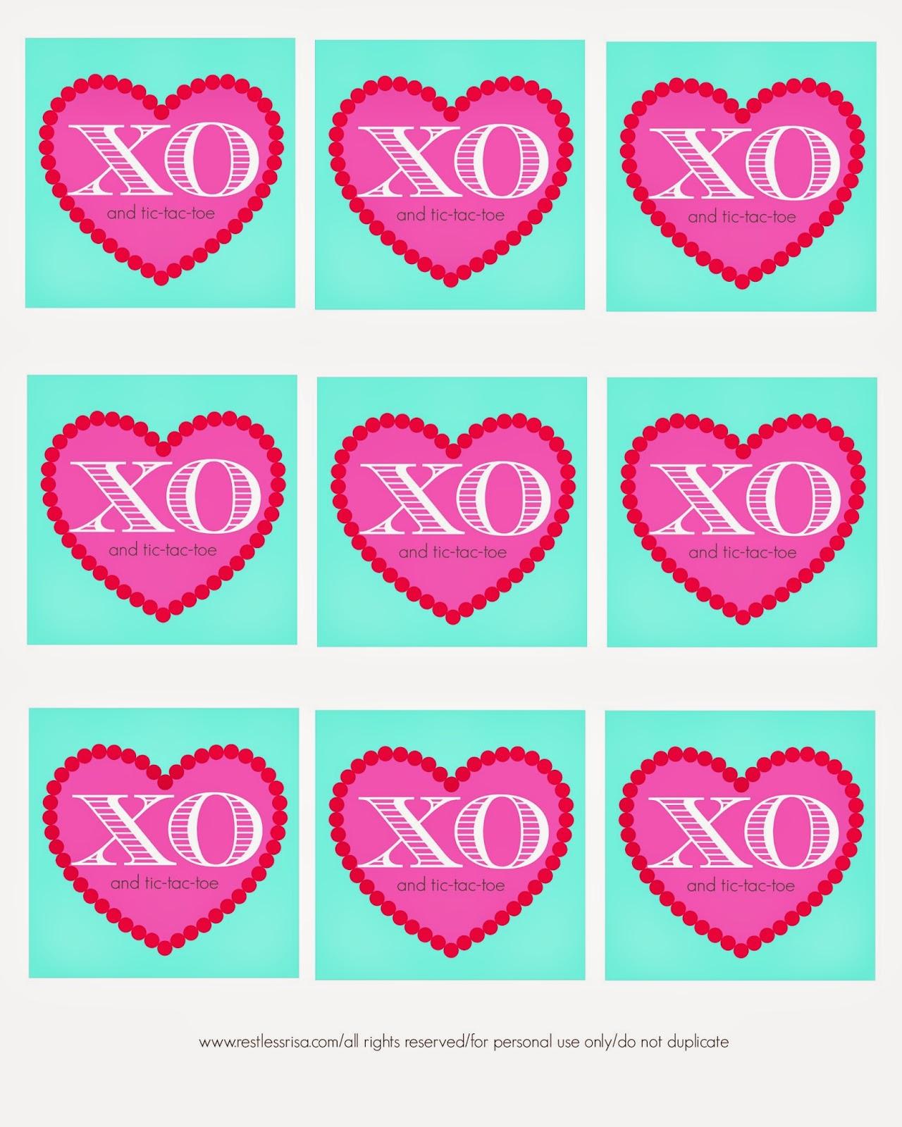 restlessrisa free printable valentine tic tac toe