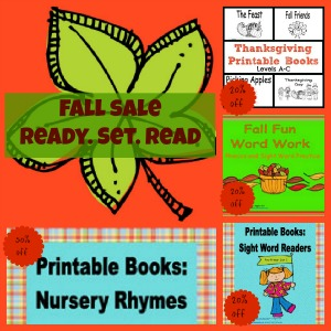 printables, fall theme, ready set read, teachers notebook