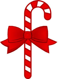 Red Christmas candy cane clip art picture