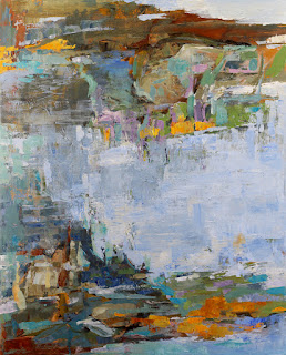 A Cool Blue Day by Karri Allrich - 52 x 42 inches