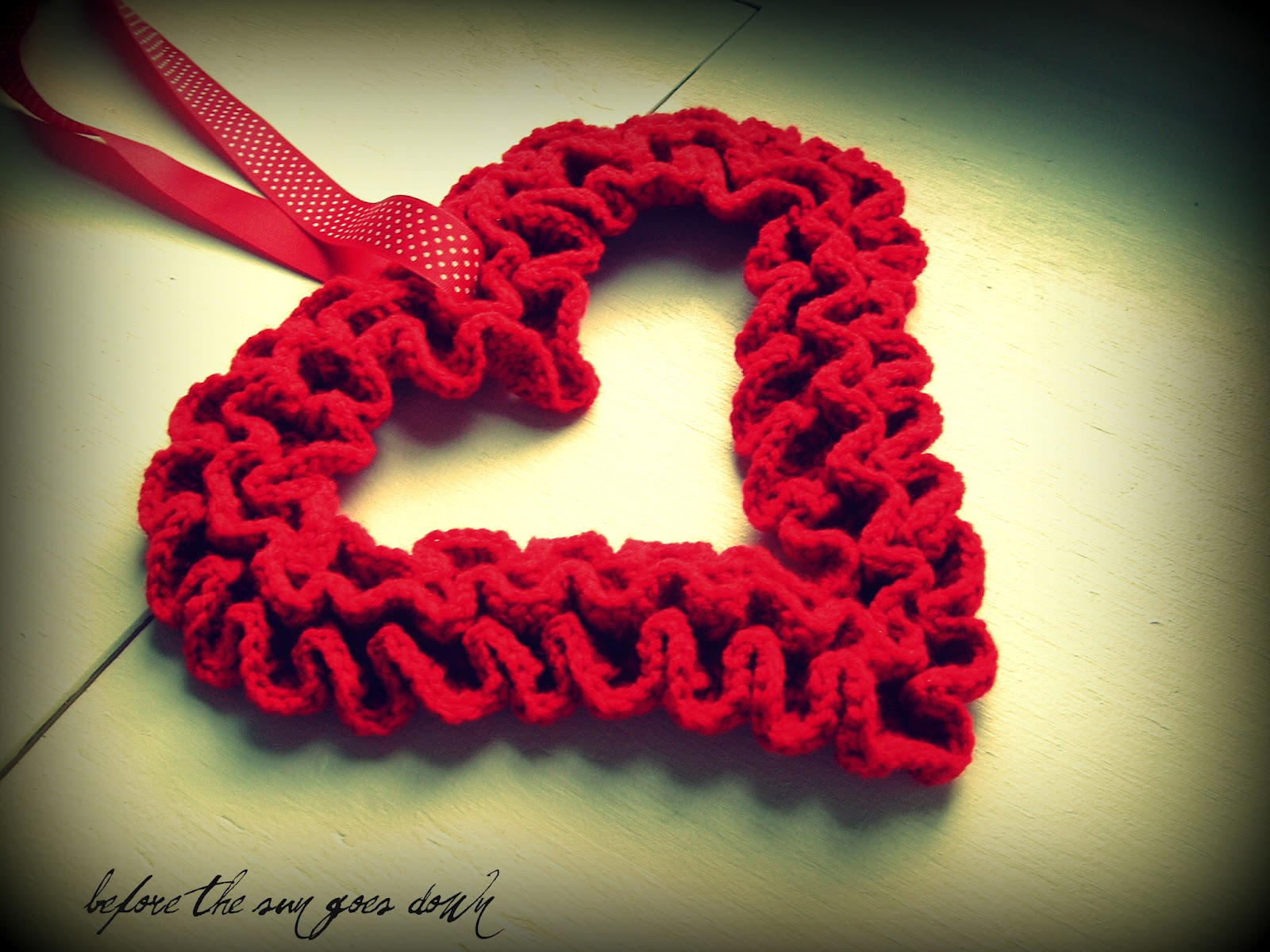 Free Ruffle Yarn Crochet Patterns : Would You Like Yarn With That?: Crochet Ruffle Valentine ...