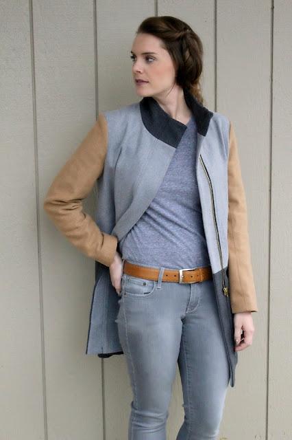 sheinside color block coat