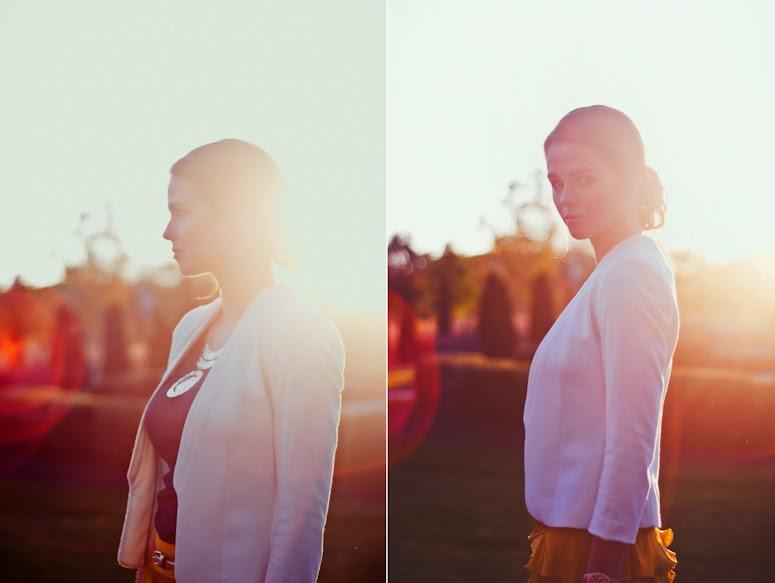 Senior portait of backlit girl