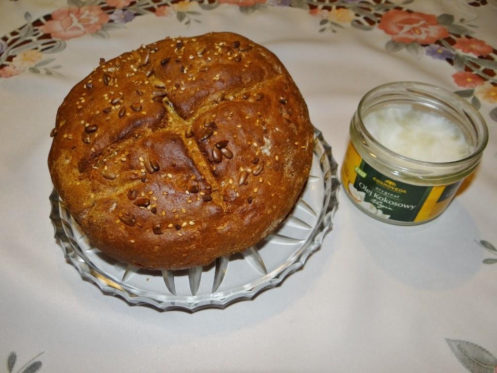 Chleb pełnoziarnisty bez drożdży