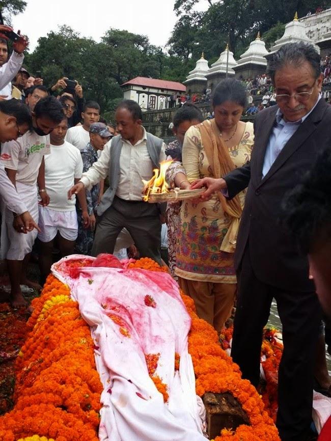 maoist leader post bahadur bogati funeral