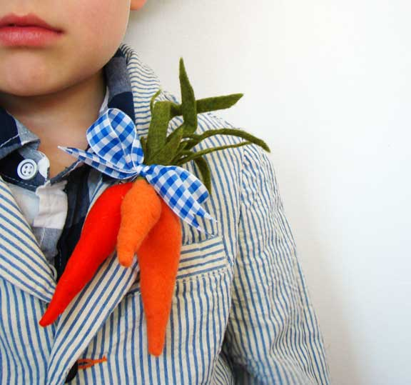 carrot boutonniere